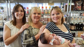 Melinda and daughters, Owner and managers of AGS Cake Supplies